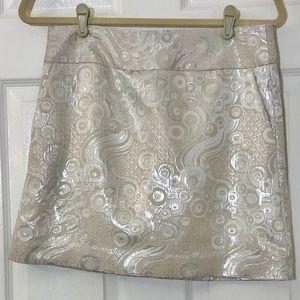 Banana Republic metallic dot print skirt